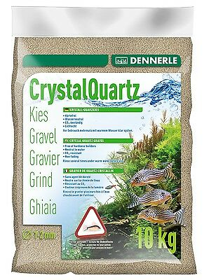 Dennerle Crystal Quartz Gravel Natural White 10kg Inert for Aquarium Fish Tank