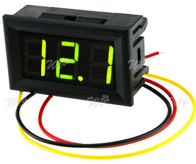DC 0-99V 3 Wire Green LED Digital Display Panel Volt Meter Voltage Car Motor