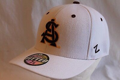 promo code 1addb ccdf2 ... wholesale arizona state sun devils hat cap white dh asu fitted cap  zephyr 54626 792a3