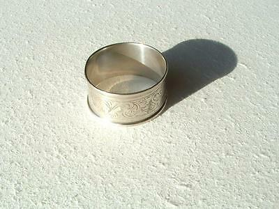 Solid Silver engraved Napkin ring  HM. Chester.1918. 15g.