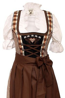 Germany,German,Trachten,Oktoberfest,Edelweiss,Dirndl Dress,3-pc.Sz.8,Browns.FREE
