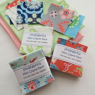"Mini Charm Packs Manderley Pack Contains 20 Pairs of 2.5"" Squares, i.e. 40"