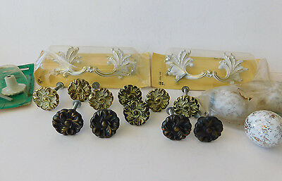 Mixed Lot Vintage Amerock Drawer Pulls Knobs Handles 17 Used and NOS some Screws