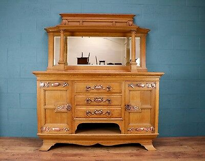 Arts and crafts sideboard with mirror (100360)