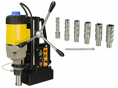 """Steel Dragon Tools® MD50 Magnetic Drill Press with 7pc 2"""" HSS Cutter Kit"""