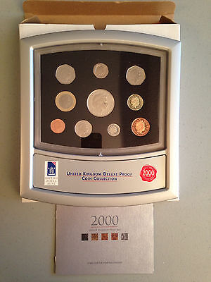 2000 United Kingdom Deluxe Proof Coin Collection with COA - FREE SHIPPING