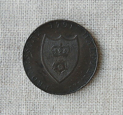 1791 Halfpenny Conder Token - D&H 89 Hampshire, Southhampton  Great Britain