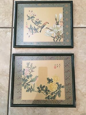 Chinese Silkscreen Paintings  Signed