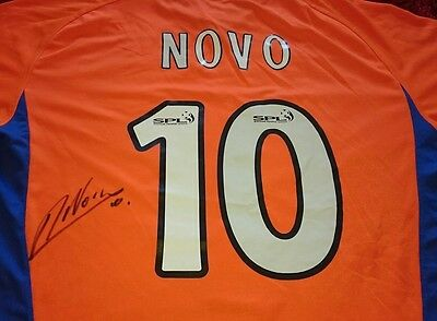 Nacho Novo signed rangers shirt / photo proof COA