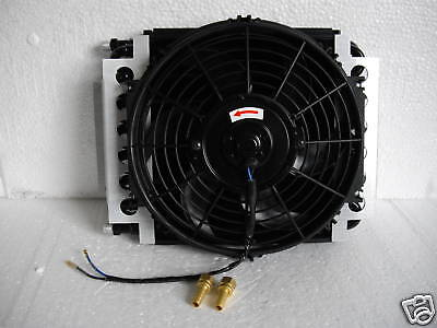 Transmission  Cooler  Dual Core 12 1/2 X 10 Inch With  Fan And Automatic Switch