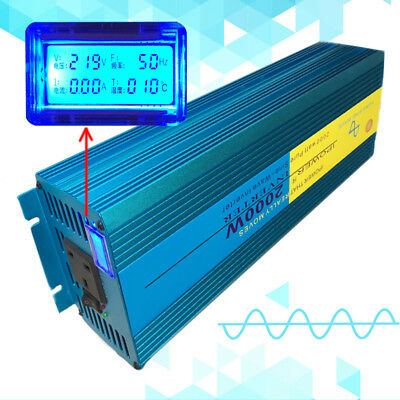 2000W/4000W Peak Pure Sine Wave Power Inverter DC 12V to AC 230V New Car Caravan