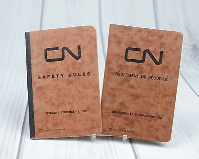 CN Canadian National Railways Safety Rules English and French Booklet 1972
