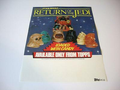 Selling sheet STAR WARS RETURN OF THE JEDI Candy Container Heads