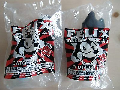 Wendy's Kids Meal Felix the Cat Lot of 2 Unopened Toys