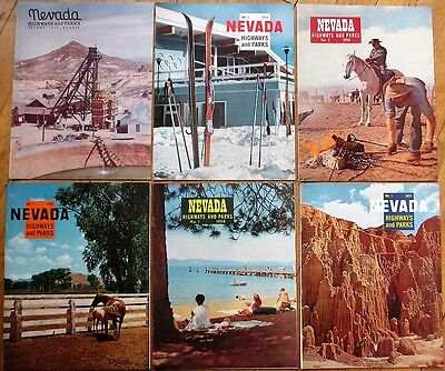 Nevada Highways & Parks SIX 1949-1962 Magazines - Squaw Valley Olympics, Mining+