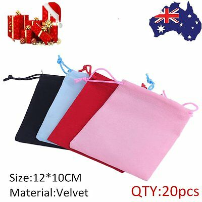 20 X Velvet Drawstring Pouches Bags for Wedding Gifts Jewellery Packing OK