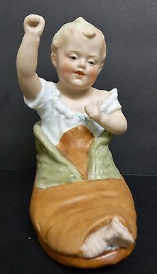 """Antique Germany Bisque Heubach Boy In Shoe Figurine 5"""" Tall"""