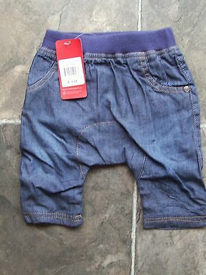 BNWT Baby Boy's Sprout Navy Lined Pants Size 000