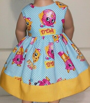 """Doll Clothes-Handmade-American Girl Dolls-Fits18""""-Shopkins and Mustard Dress."""