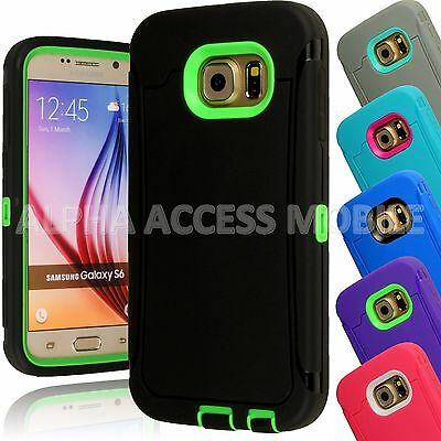 15 TPU Shockproof Defender Hybrid Case Cover Wholesale Lot For Samsung Galaxy S6