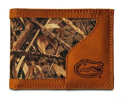 NCAA Florida Gators Brown Wrinkle Leather Bifold Concho Wallet One Size