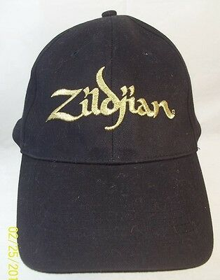 Zildjian Adj Baseball dad Hat Cap Embroidered Strapback Black Gold script  cymbal 1706f4e2842c