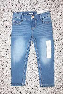 NWT Old Navy Girls Light Blue Skinny Jeans Pants Adjustable Waist Size 5T