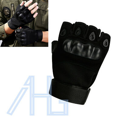 Leather Gloves Fingerless Hunting Tactical Sniper Outdoor Sports Cycling Mitten