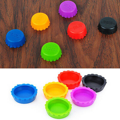 Fashion Candy Colored Useful Metallic Bottle Cap Multi-Pack 6 Count Gifts AB05