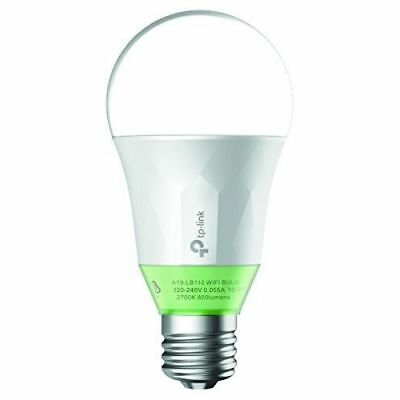 TP-LINK LB110 (60W) Smart Wi-Fi LED Bulb 800 Lumens with Dimmable Soft White Lig
