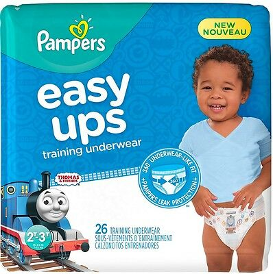 Pampers Easy Ups Training Underwear Boys, Size 2T-3T 26 ea
