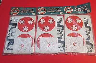 Vintage 1960's Marksman Shooting Gallery Replacement Target Set Ducks Bullseye