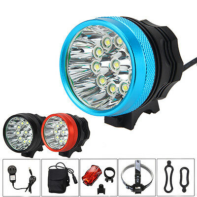 35000Lm 11x 9x XML T6 LED Rechargeable Bicycle Bike Lamp Light Headlight 6*18650