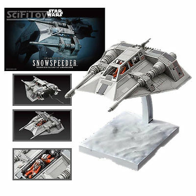 New 1/48 Star Wars The Empire Strikes Back Snow Speeder Snapfit Model Kit Bandai