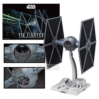New 1/72 Star Wars Tie Fighter Model Kit Official Bandai Spaceship
