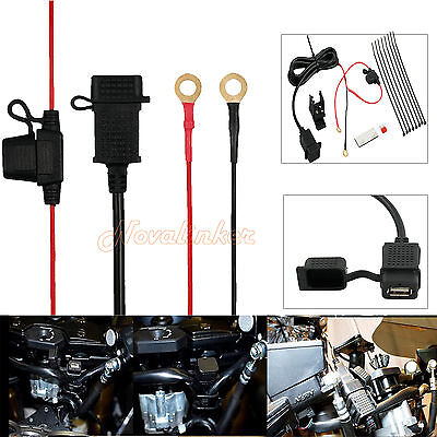 12V Waterproof Motorcycle Mobile Phone GPS Power Supply USB Port Socket Charger