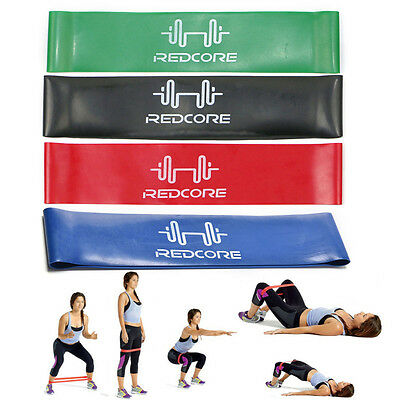 Latex Stretch Resistance Loop Band Yoga Pilates ABS Exercise Workout Fitness GYM