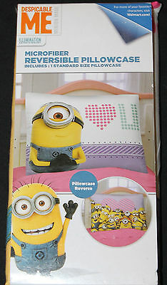 Despicable Me Minions Pillowcase Girls microfiber reversible standard