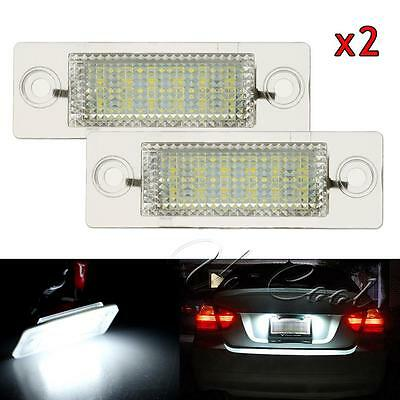 2x LED Licence Number Plate Light registration White for VW golf T5 Caddy Touran