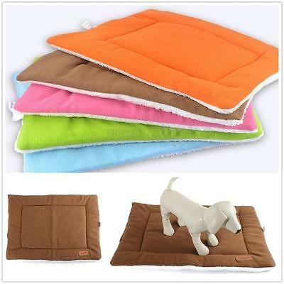 Washable Pet Dog Puppy Cat Kennel Pad Bed Cushion Fleece Mat Warm Soft Blanket