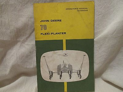 Vintage John Deere Operator's Manual 70 Flexi-Planter
