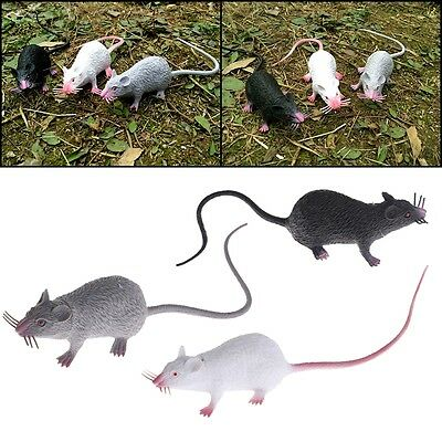 Plastic Rats Mouse Model Figures Kids Halloween Tricks Pranks Props funny Toy