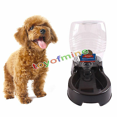 946ml Automatic Pet Dog Cat Food Feeder Bowl Bottle Dispenser Plastic Fountain