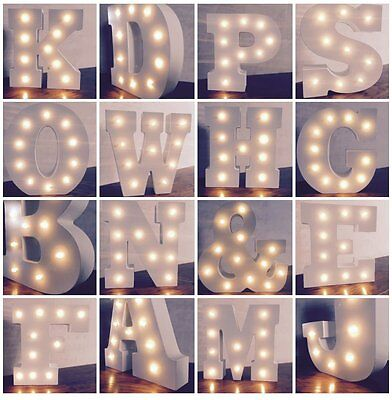 6'' Inch LED Night Lamp Circus Style Alphabet Christmas Wall Light Up Sign nfg