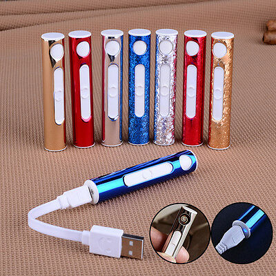 Metal Shell Mini Electronic Lighter Cigarette Rechargeable Flameless USB Lighter