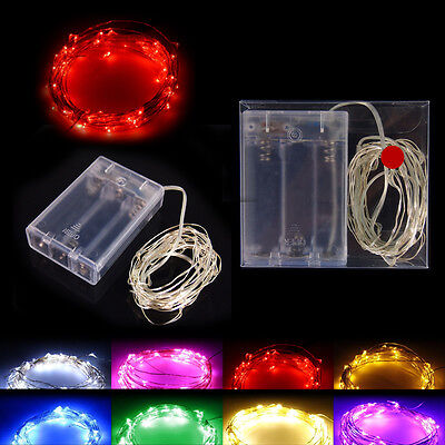Lamp string 2M decorate Light belt Silver thread with Battery box party