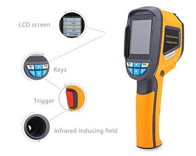 Precision Protable Thermal Imaging Camera Infrared Thermometer Imager HT-02 + SD