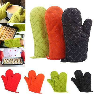2pcs Microwave Oven Gloves Insulation Silicone Oven Mitts Non-Slip BBQ Tool