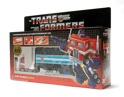 Reissue Transformers G1 Optimus Prime Toy Figure Collection SET MISB Red Version