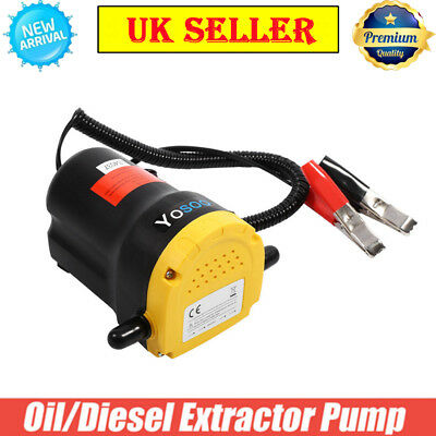 12V Diesel Oil Fluid Transfer Extractor Pump Electric Suction Car Truck Boat Top